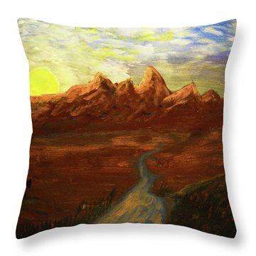 Spirit Of Wyoming Throw Pillow