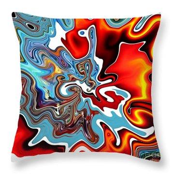 Throw Pillow featuring the digital art Splash by A zakaria Mami