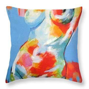 Splash Of Desire Throw Pillow