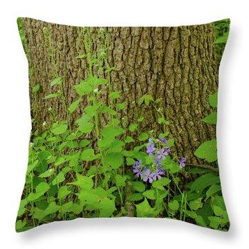 Splash Of Purple Throw Pillow