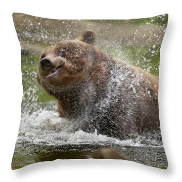 Splish Splash I'm Taking A Bath Throw Pillow