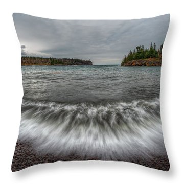 Split Rock Lighthouse State Park Throw Pillow