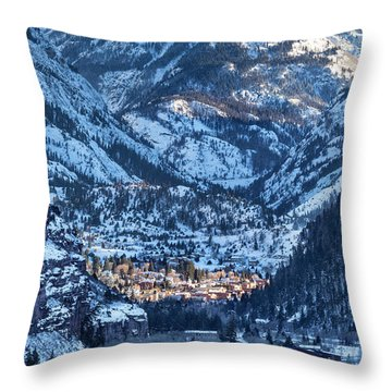 Spotlight On Ouray Throw Pillow
