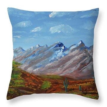 Spring Comes To Southern Arizona Throw Pillow
