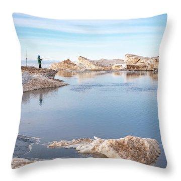 Spring Fishing Throw Pillow