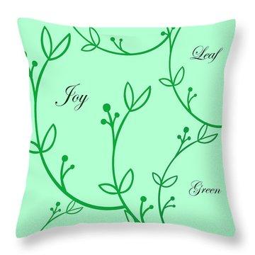 Spring Green Throw Pillow
