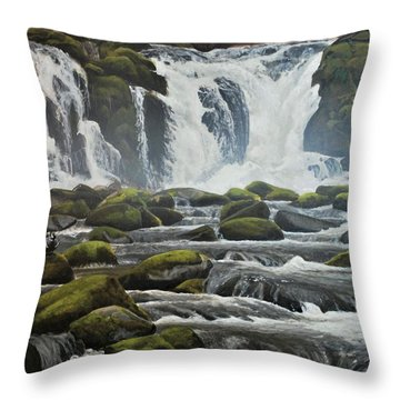 Spring Harlequins Throw Pillow