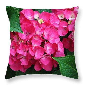 Spring Hydrangea Throw Pillow