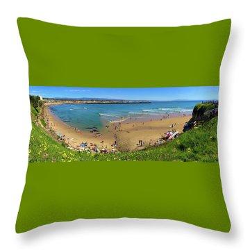 Spring In Santa Cruz Panorama Throw Pillow