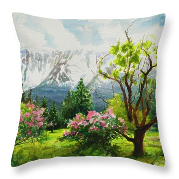 Spring In The Wallowas Throw Pillow