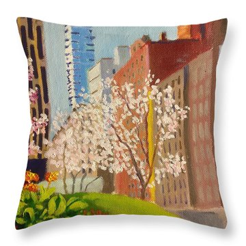 Spring In Worth St Throw Pillow
