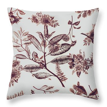 Spring Ink Throw Pillow