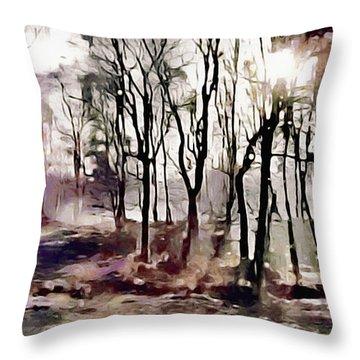 Spring Morning Mist Throw Pillow