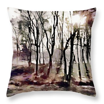 Spring Morning Mist Throw Pillow