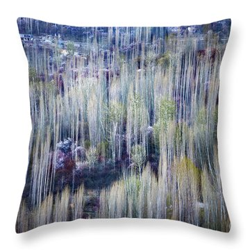 Throw Pillow featuring the photograph Spring Strokes by Awais Yaqub