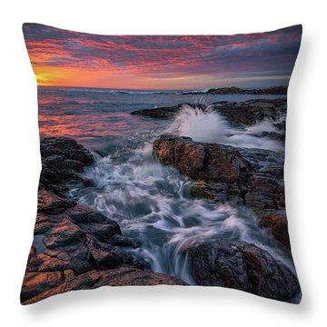 Spring Sunrise At Marginal Way Throw Pillow