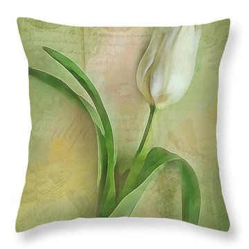 Spring Tulip Montage Throw Pillow