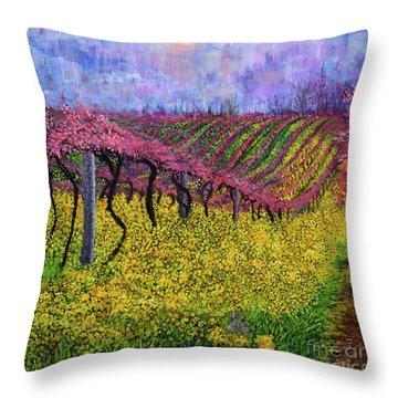 Spring Vineyard Throw Pillow