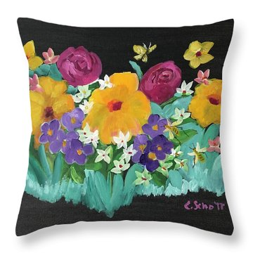 Spring Wishes Throw Pillow