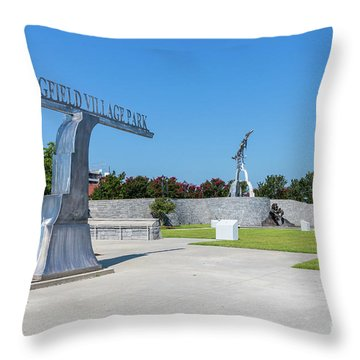 Springfield Village Park - Augusta Ga Throw Pillow