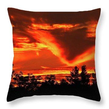Springport, Michigan Sunset 4289 Throw Pillow