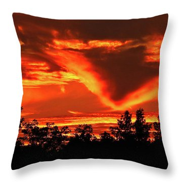 Springport, Michigan Sunset 4289 Throw Pillow