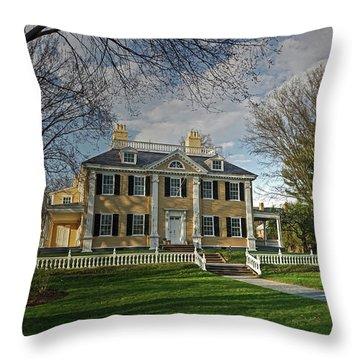 Springtime At Longfellow House Throw Pillow