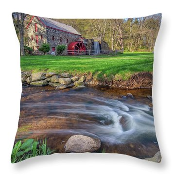 Springtime At The Grist Mill Throw Pillow