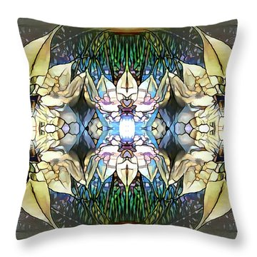 Throw Pillow featuring the digital art Springtime Joy by Missy Gainer