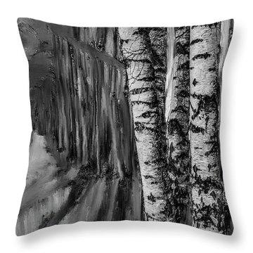 springtime ligh BW #i6 Throw Pillow