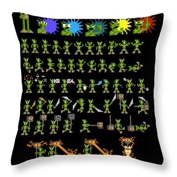 Throw Pillow featuring the digital art Sprite Sheet 1 by Bfm