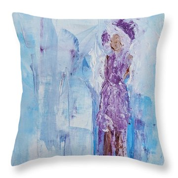 Spunky Angel Throw Pillow