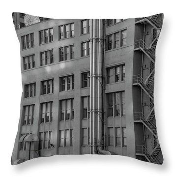 Squares And Lines Throw Pillow