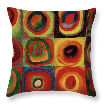Squares With Concentric Circles 1913  Throw Pillow