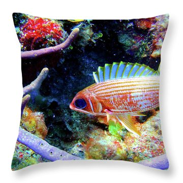 Squirrel Fish Throw Pillow
