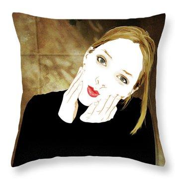 Squishyface Throw Pillow
