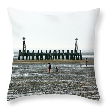 St. Annes. On The Beach. Throw Pillow