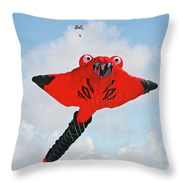 St. Annes. The Kite Festival Throw Pillow