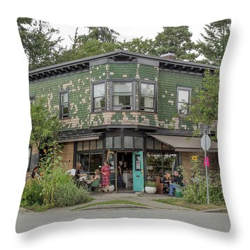 Throw Pillow featuring the photograph St George St. And E 28th by Juan Contreras