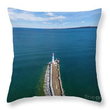 St Ignace Throw Pillows
