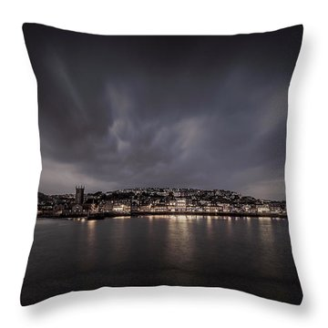 St Ives Cornwall - Dramatic Sky Throw Pillow