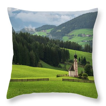 St Johann From The East Throw Pillow