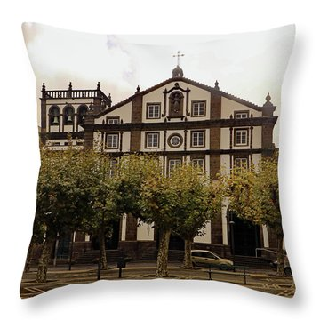 Throw Pillow featuring the photograph St Joseph by Tony Murtagh