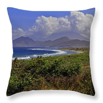 Throw Pillow featuring the photograph St Kitts  by Tony Murtagh