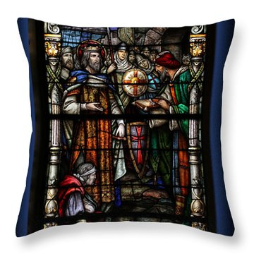 St. Louis Cathedral Stained Glass Window Throw Pillow