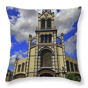 Throw Pillow featuring the photograph St. Louis Cathedral by Tony Murtagh