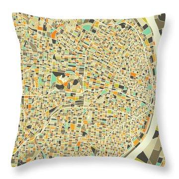 St Louis Map 1 Throw Pillow