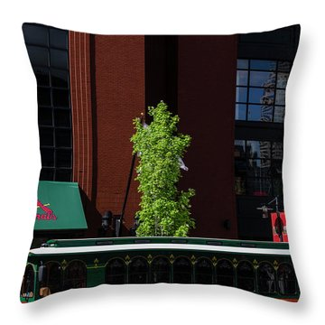 St Louis Trolley Throw Pillow