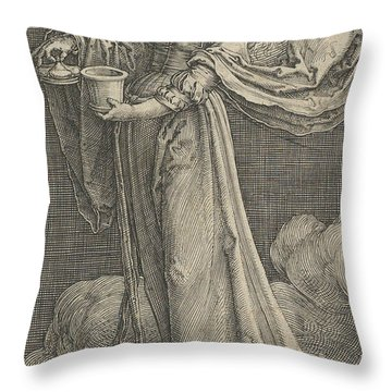 St. Mary Magdalene On The Clouds Throw Pillow