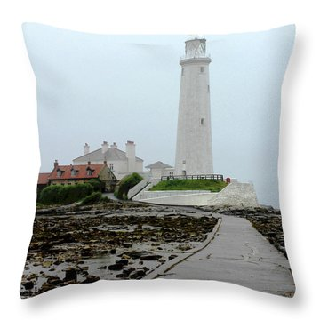 St Mary's Lighthouse Throw Pillow